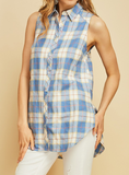 """Micah"" Plaid Tank"
