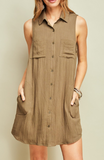 """Nelly"" Button Up Dress"