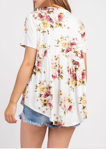 """Hilary"" Floral Top"