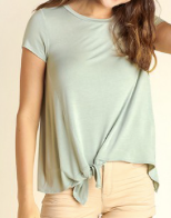 """Holly"" Side Tie Top"