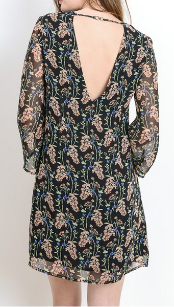 """Connie"" Floral Print Dress"