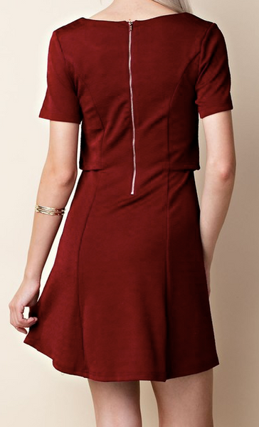 """Barb"" Double Layer A-Line Dress"