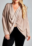 """Rose"" Faux Wrap Around Top"