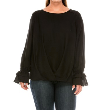 """Abbie"" Ruffle Sleeve Top"