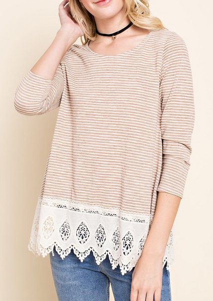 """Cheryl"" Striped Top"