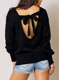 """Aubrey"" Backless Sweater"