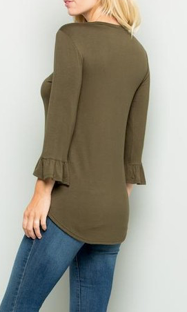"""Cora"" Ruffle Sleeve Top"