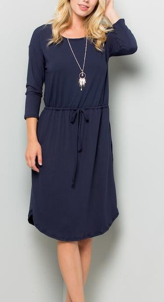 """Rosemary"" Drawstring Dress"