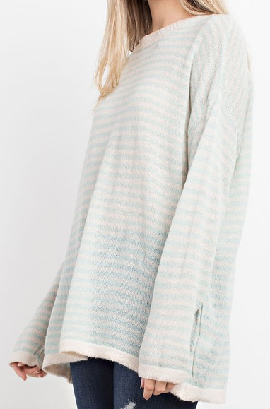 """Ava"" Sheer Stripe Tunic"