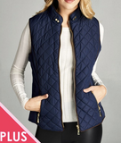 """Evelyn"" Vest (S-3XL Navy or Black)"