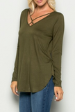 """Jill"" Cross Front Top"