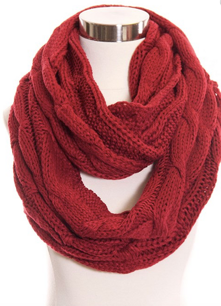 CC Infinity Scarf (Pink, Black, Beige or Red)