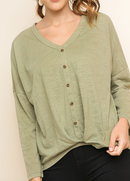 """Carrie"" Gathered Waist Top (S-2XL)"