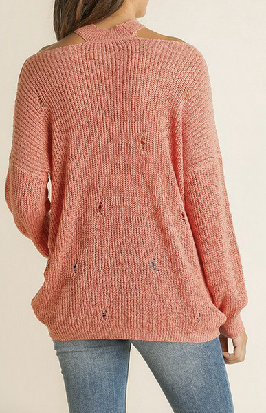 """Calley"" Distressed Sweater"