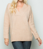 """Aleah"" V Neck Sweater"
