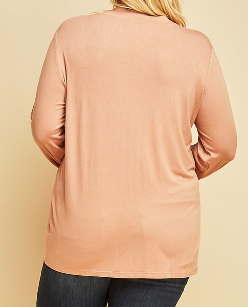 """Ashley"" Mock Neck Top"