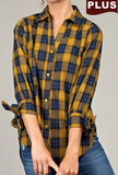 """Erica"" Plaid Button Down"