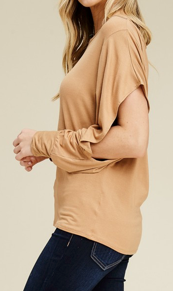"""Theresa"" Slit Sleeve Top"