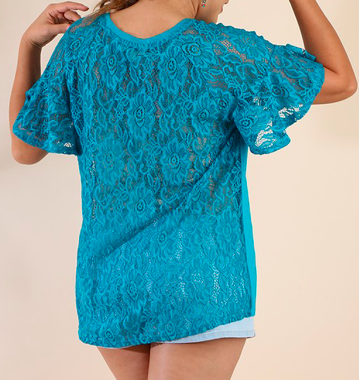 """Cathy"" Lace Back Top"