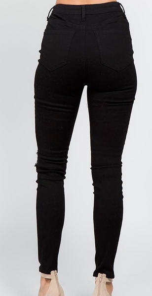 High Rise Skinny Jeans (Black or White)