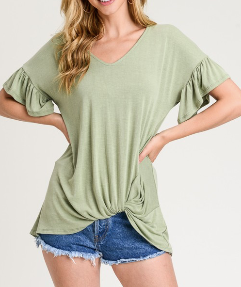 """Sara"" Twist Knot Top"