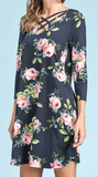 """Shannon"" Crisscross Floral Dress"