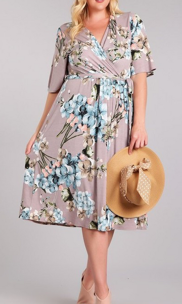 """Abbey"" Floral Wrap Dress"