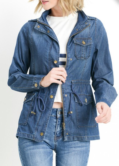 """Rosalie"" Chambray Jacket"