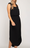 """Parker"" Sleeveless Midi Dress"