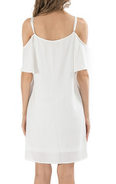 """Elena"" Cold Shoulder Dress"