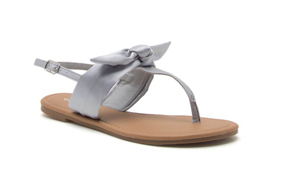 Grey Bow Sandals