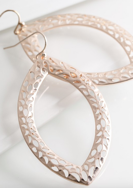 Marquee Shaped Earrings (Silver or Rose Gold)