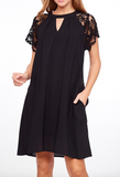 """Jasmine"" Lace Sleeve Dress (S-3XL)"