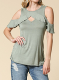 """Elizabeth"" Cold Shoulder Top"