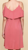 """Leslie'"" Cold Shoulder Dress"