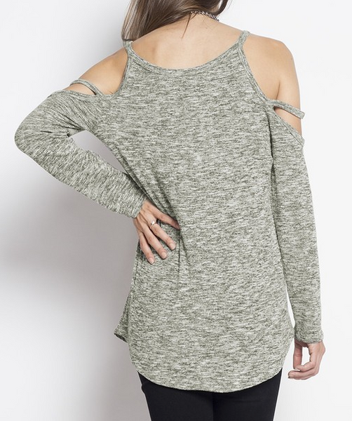 """Aubrey"" Cold Shoulder Top"