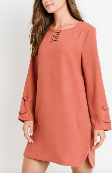 """Adeline"" Long Sleeve Dress"