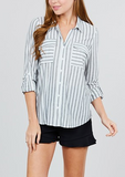 """Grace"" Button Down Top"