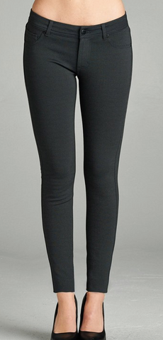5 Pocket Skinny Pant (Navy or Charcoal)