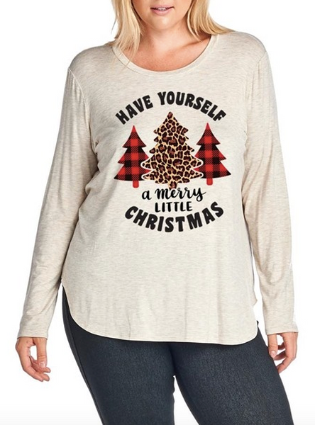 """A Merry Little Christmas"" Top (S-3XL)"