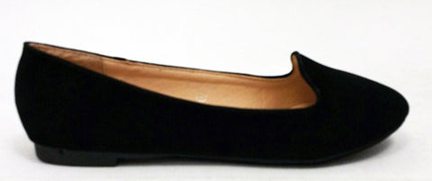 Suede Loafer in Black
