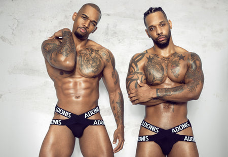 Johnnell Terrell and Tyrone Wells Show Off Their Assets In Latest Adonis Underwear Campaign