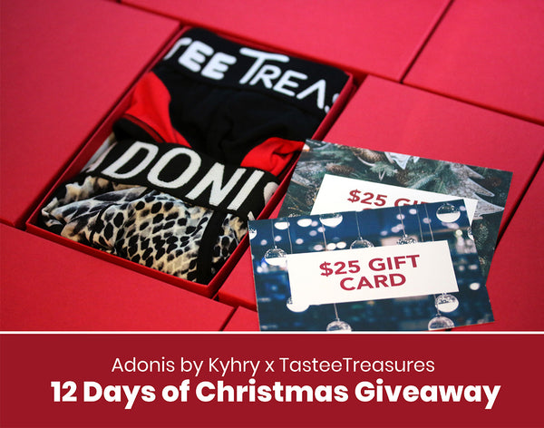 Adonis Underwear x TasteeTreasures 12 Days of Christmas Giveaway