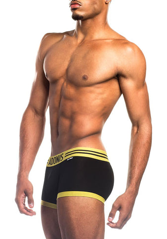 Perfect Fit Black & Yellow Boxer Trunk