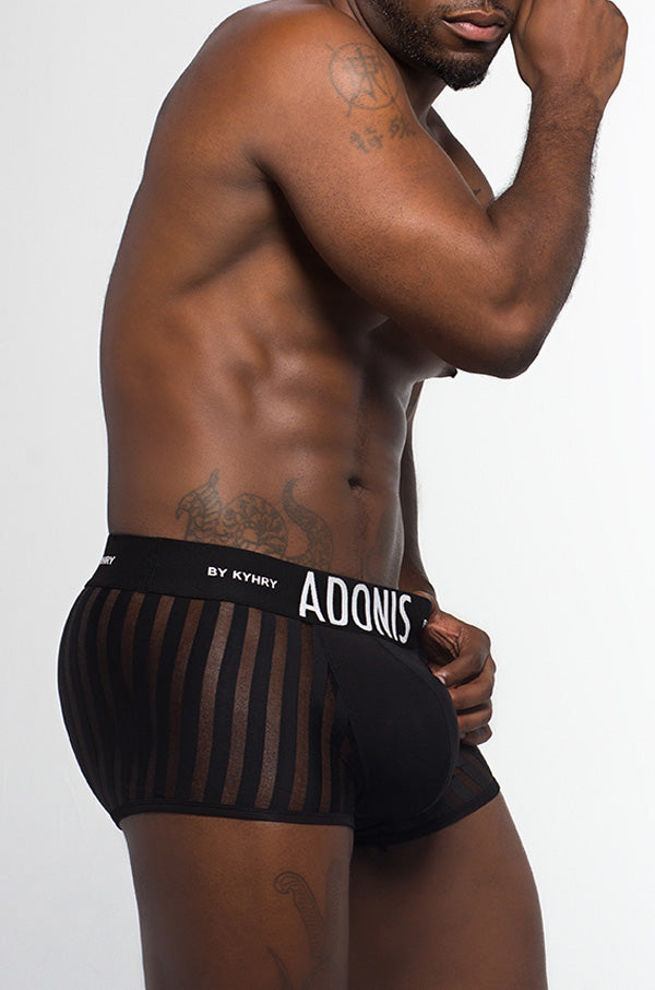 LUXE Sheer Black Boxer Trunk