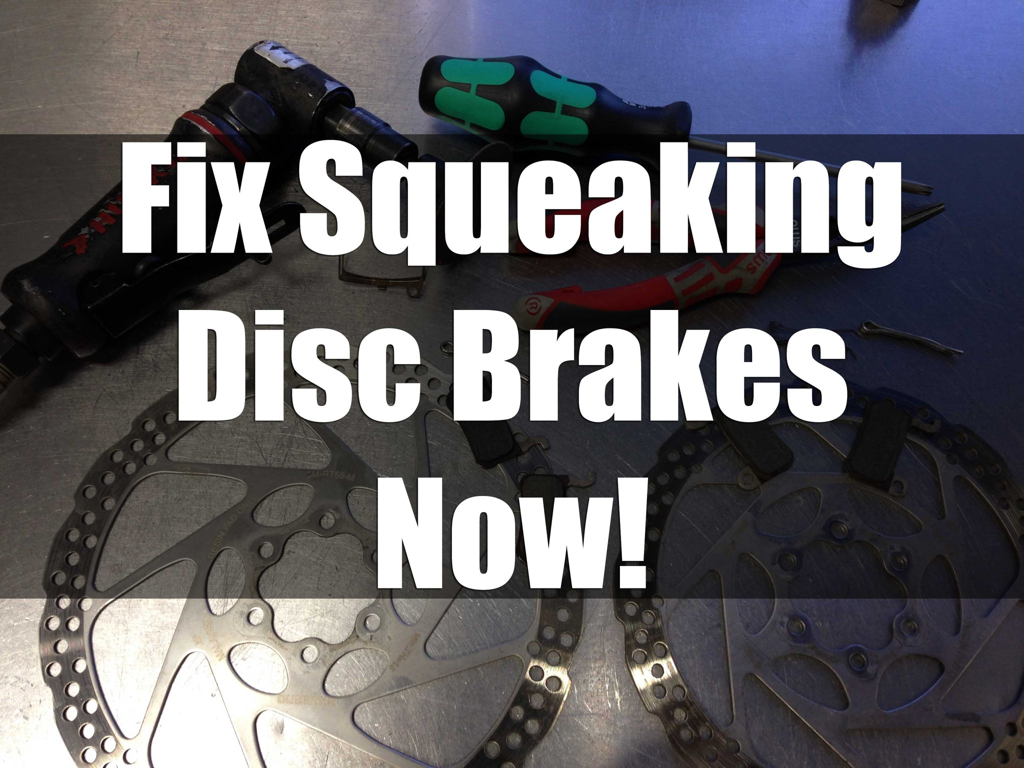 Fix Squeaking Disc Brakes Now!