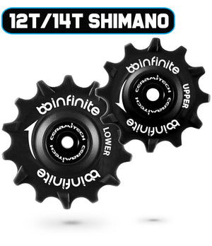 Shimano MTB 12T/14T Ceramitech Pulley Set (set of 2)