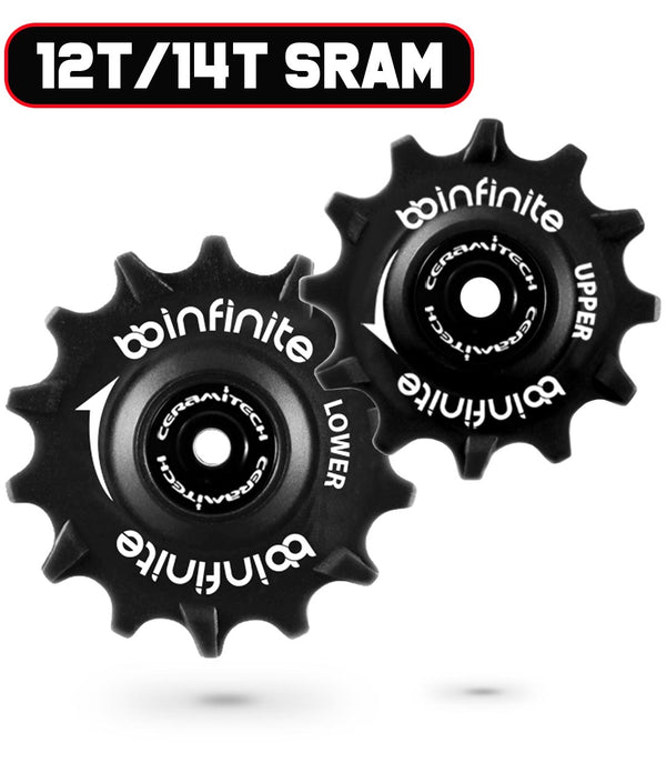 Sram Eagle mechanical and Eagle AXS 12/14T Ceramitech Pulley Set (set of 2)