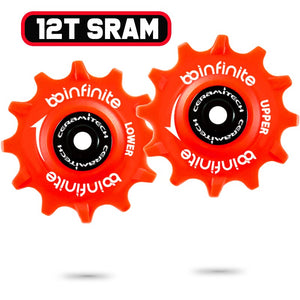 Sram 11 Speed X-Horizon derailleurs, 12T Ceramitech Pulley Set (set of 2)