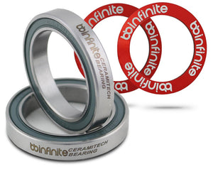 Ceramitech 4030 bearings for ø30mm spindle crank sets ( sold in pairs only)
